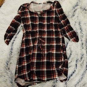 Flannel super cute dress